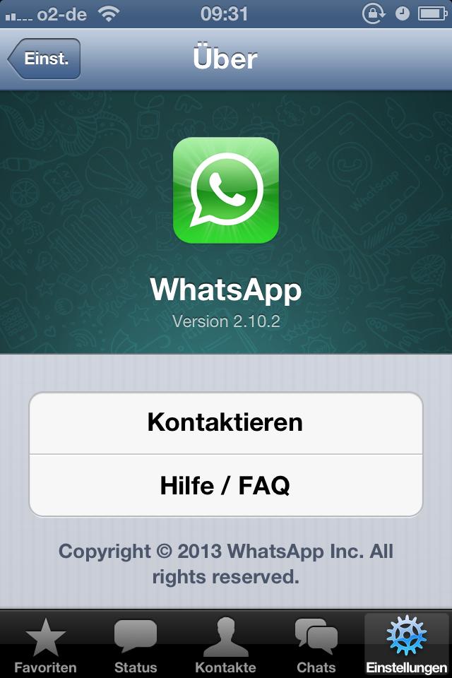 Schreibt Whatsapp