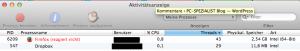 Satte 2,5 GB RAM belegt Firefox zwischenzeitlich.