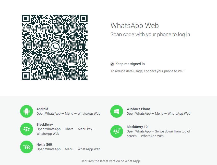Webanwendung Whats App Screenshots