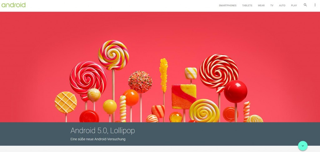 Android Betriebssystem Lollipop 5.0