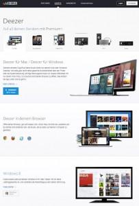 deezer.com/devices Screenshot 17.02.2015