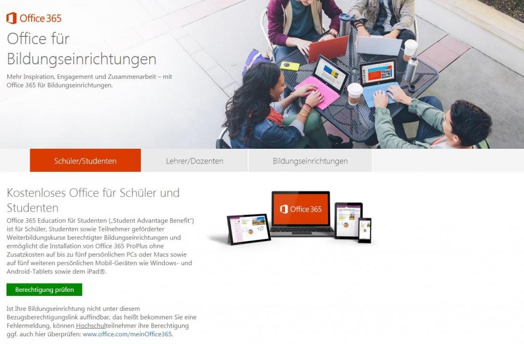 Microsoft Office 365 kostenlos