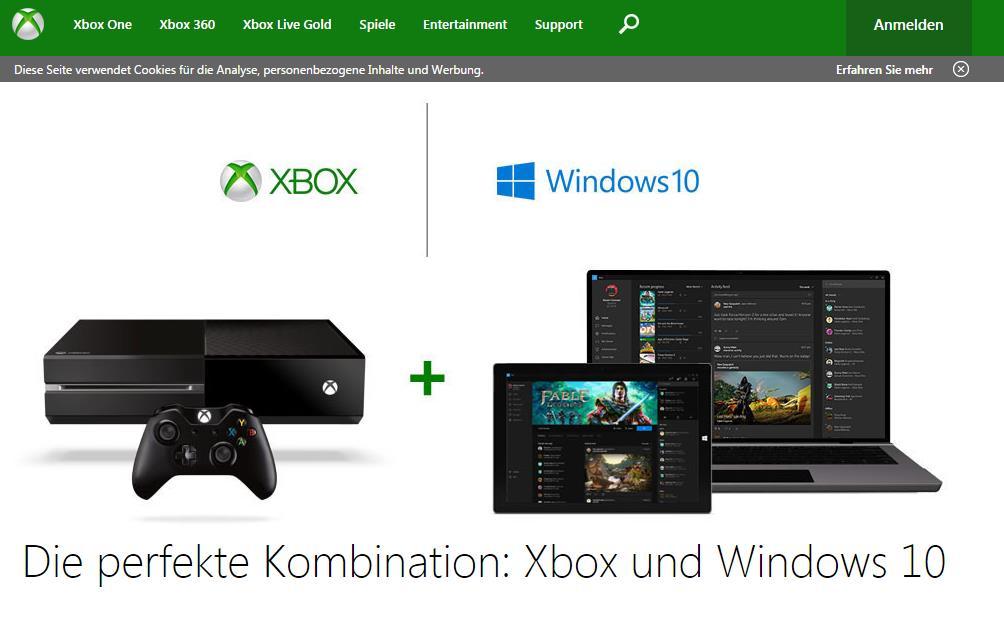 https://www.xbox.com/de-DE/windows-10 Screenshot