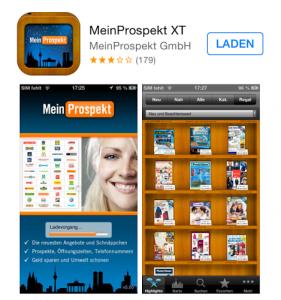 """App für Schnäppchenjäger """"Mein Prospekt XT"""""""