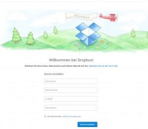 Filesharing Dienst Dropbox Screenshot