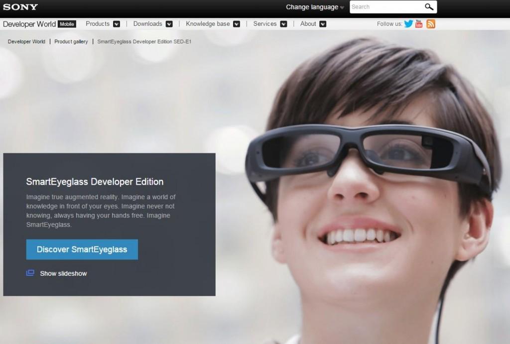 Sony SmartEyeglass Screenshot