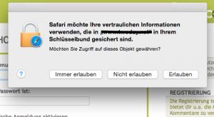 Screenshot der Passwortverwaltung