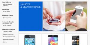 Screenshot eBay Webseite