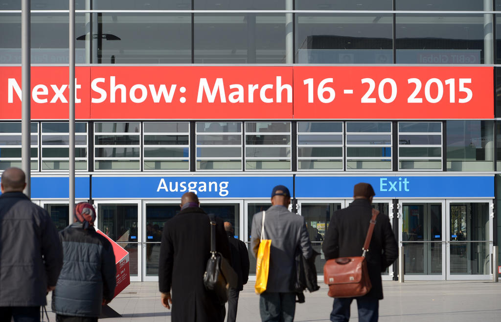 CeBIT 2015 Eingang Hannover