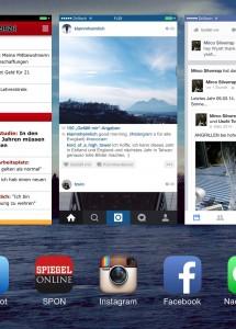 Geöffnete Apps im App Manager von iOS