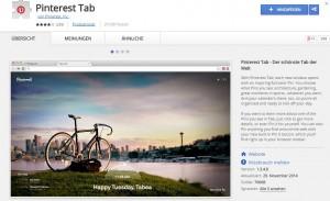 Google Chrome Erweiterung Pinterest