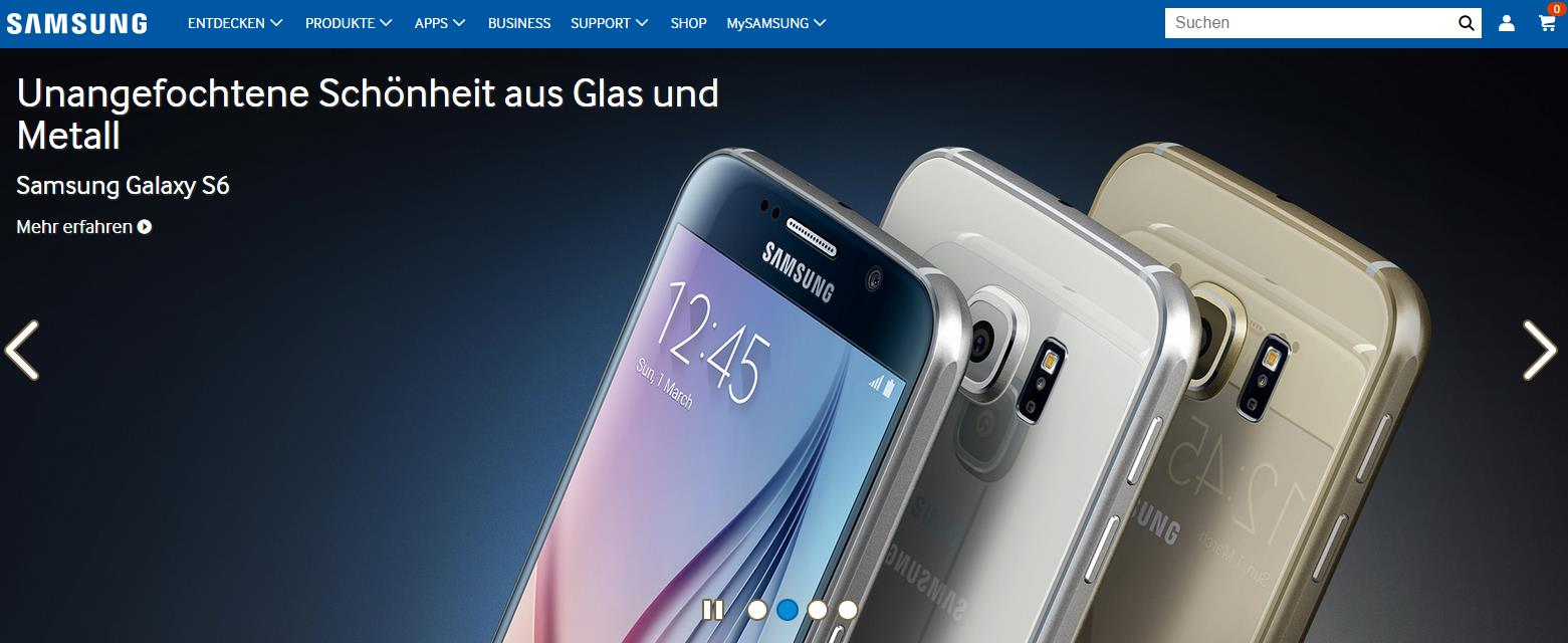 Samsung Galaxy S6 Modelle