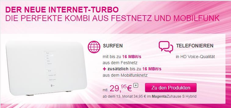 Telekom Internet Screenshot