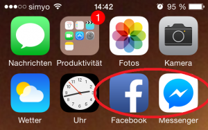 Screenshot iPhone Facebook Apps