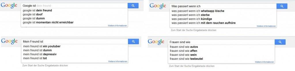 Screenshot Google Suchanfragen