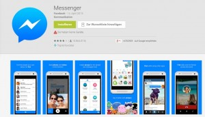Google Play Store Facebook Messenger