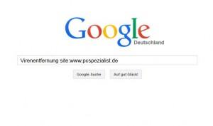 Google Suche mit Kurzbefehl