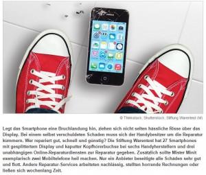 Screenshot Smartphone Reparatur