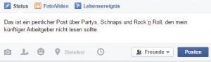 facebook posting peinlich