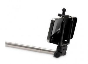Halterung bei einer Selfiestange für Smartphne
