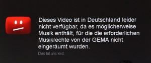 Streit Youtube und GEMA