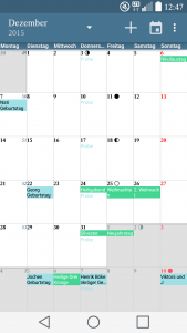 google kalender in acalendar