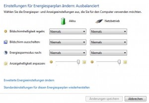 energiesparplan windows notebook akku