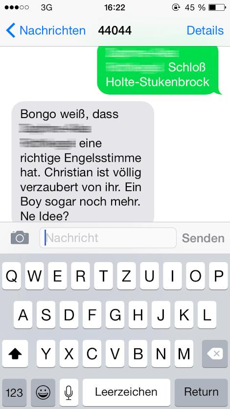 SMS Dienst Bongo