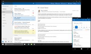 Oberfläche Outlook in Microsoft Office 2016