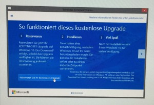 Update windows 10 registrieren