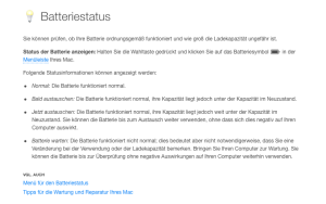akku lebensdauer macbook pro
