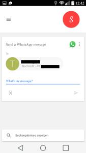 whatsapp google now