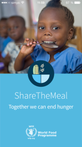Share The meal app gegen welthunger