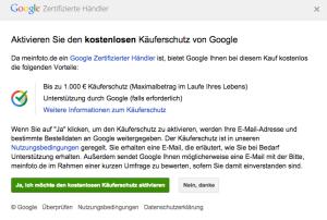 google kaeuferschutz beim online shopping