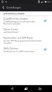 zustellbericht sms