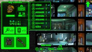 Fallout Shelters Charakterwerte-System