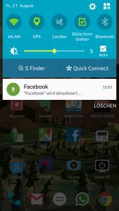 facebook app aktualisiert zu lange