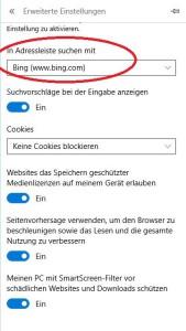 Bing Suche Microsoft Edge