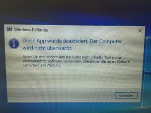 defender deaktivieren windows 10