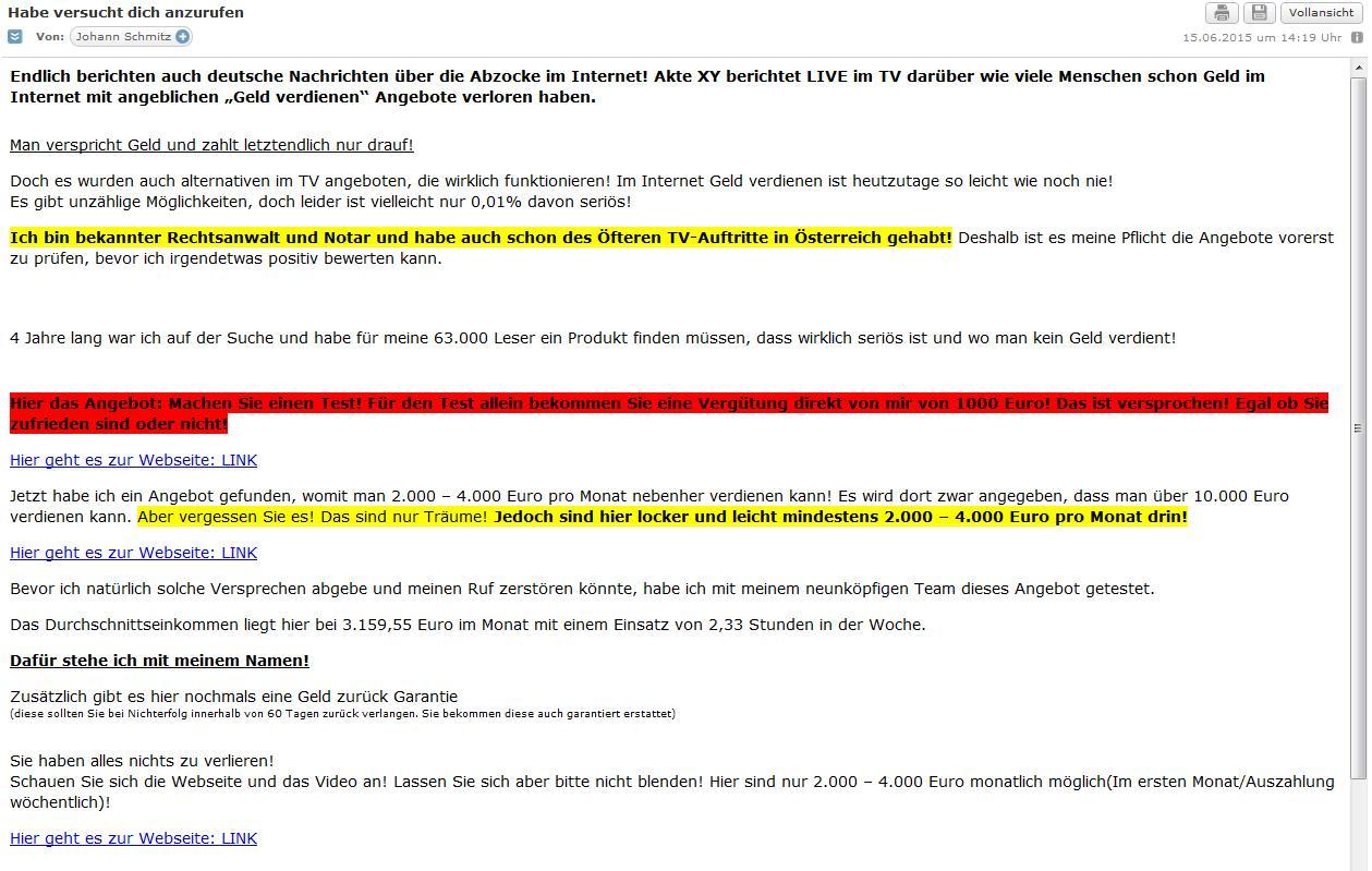 Spam Mail Von Eigener Adresse