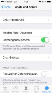 whatsapp dateien nicht automatisch speichern