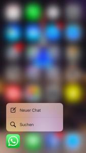 iPhone 6S und 6S Plus: WhatsApp mit 3D Touch