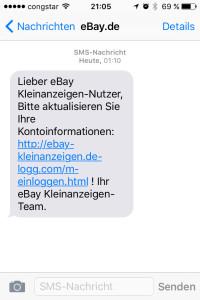 ebay kleinanzeigen phishing nachricht