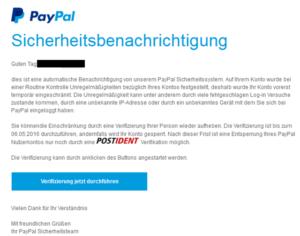 paypal sicherheitsbenachrichtigung