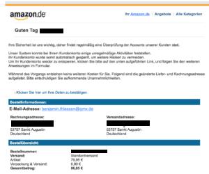 phishing-mail absender kontrollieren