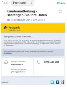 Postbank Phishing
