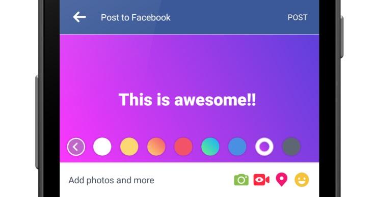 Farbiger hintergrund facebook post
