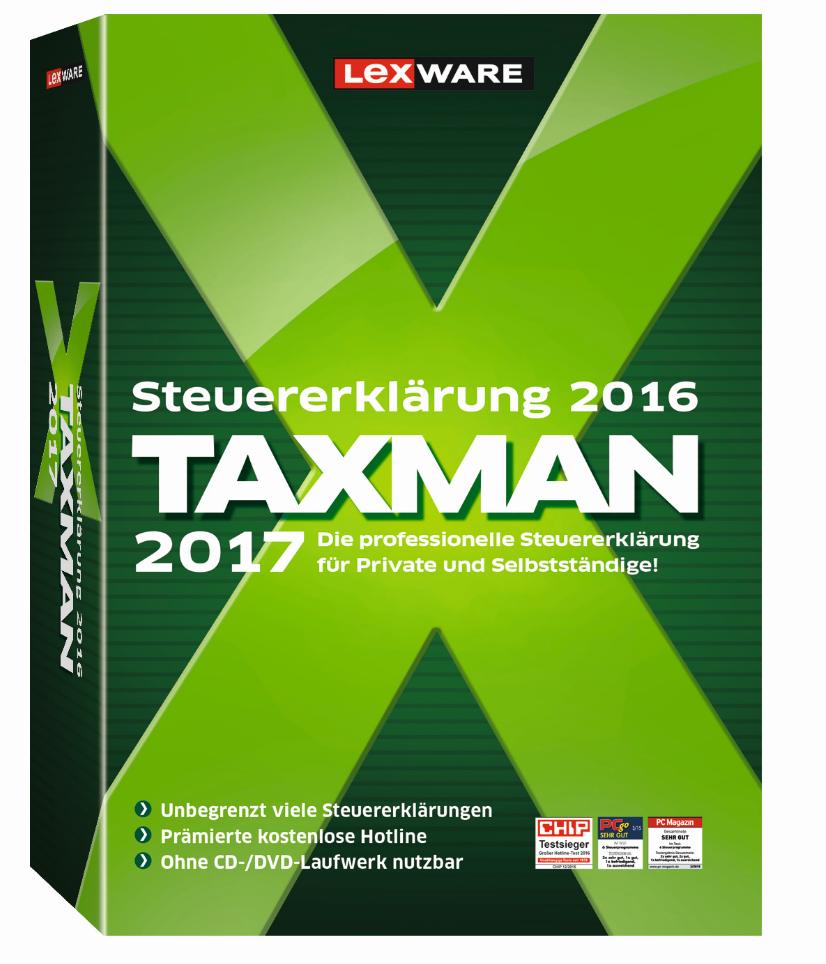 lexware taxman 2017 steuererkl rung einfach selber machen. Black Bedroom Furniture Sets. Home Design Ideas