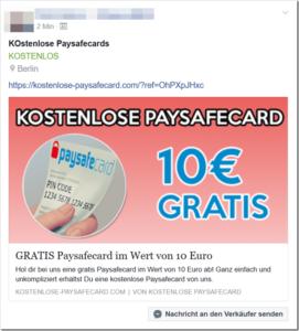 kostenlose paysafecards
