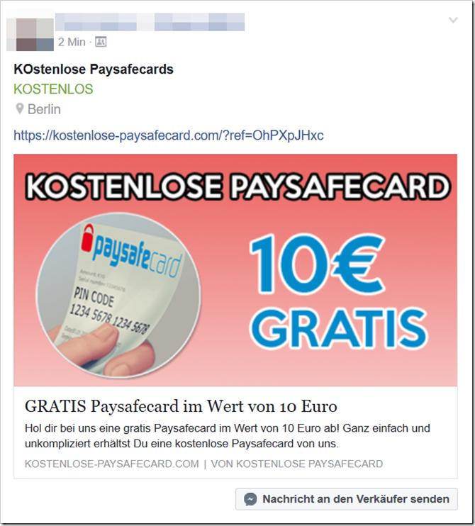 paysafecard kostenlos